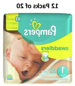 swaddlers size 1 12 packs of 20