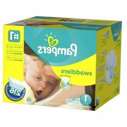 Pampers, Swaddlers Diapers, Newborn Size 1  216CT