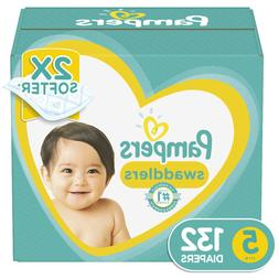 Pampers Swaddlers Soft and Absorbent Diapers Size 5, 132 Ct