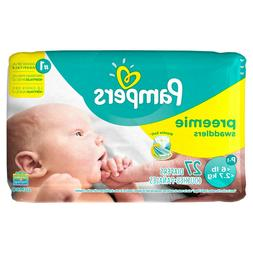 Pampers Swaddlers Soft and Absorbent Preemie Diapers Size P-
