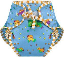swim diaper, goldfish print, large