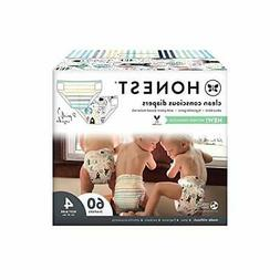 The Honest Co Baby Diapers Size4 ,count 60 TrueAbsorbs Train