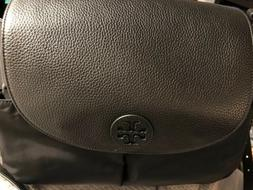 TORY BURCH THEA NYLON/LEATHER MESSENGER BABY DIAPER BAG BLAC