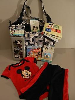 Disney Baby Three Piece  Diaper Bag with accessories