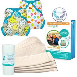 Tidy Tots Diaper Hassle Free 4 Diaper Snap Essential Set Wit