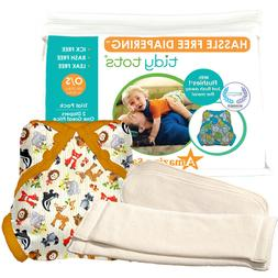 Tidy Tots Hassle Free 2 Diaper Trial Set with Forest Friends