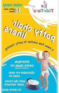 TidyTots Disposable Potty Chair Liners - Value Pack - Univer