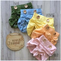 Infant Baby Girl Boys Cotton Ruffle Shorts PP Pants Nappy Di