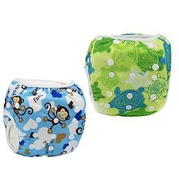 Baby & Toddler Snap Reusable Absorbent Swim Diaper Adjustabl