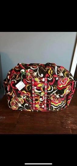 Vera Bradley tote/diaper bag, multiple pockets & storage, ma
