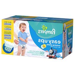 Pampers Easy Ups Training Pants Boys Size 4 , 100 ea