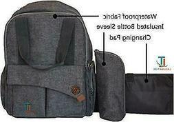 Laguna Tide Travel Diaper Bag Backpack w/ Padded Infant Chan
