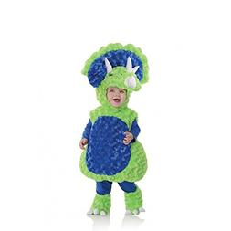 Underwraps Baby's Triceratops Belly, Green/Blue, Large