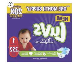 Luvs Triple Leakguards Diapers Size 1 252 Count New 100%