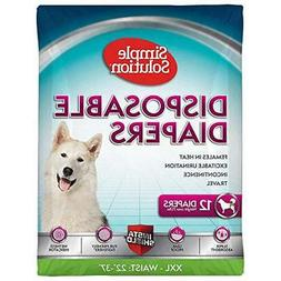 Simple Solution True Fit Disposable Dog Diapers for Female D