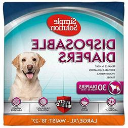 Simple Solution True Fit Dog Diapers for Female Dogs Super A