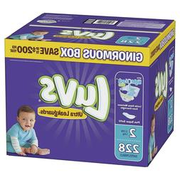 LUVS Ultra Leakguards Baby Diapers Size 1, 2, 3. 4. 5, 6 CHE