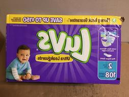 Luvs Ultra Leakguards Diapers - Size 2 - 108 ct