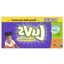 Luvs Ultra Leakguards Diapers - Size 3 - 104 ct
