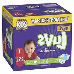 Luvs Ultra Leakguards Disposable Baby Diapers, Size 1,2,3,4,