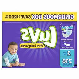 Luvs Ultra Leakguards Disposable Baby Diapers, Size 2, 216 C