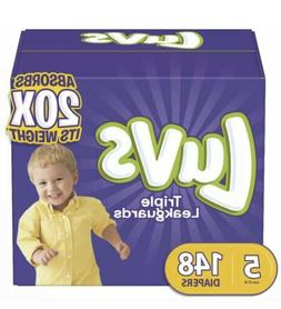 Luvs Ultra Leakguards Disposable Baby Diapers Size 5 148Coun