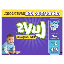Luvs Ultra Leakguards Disposable Diapers Size 2  *Free 2 day