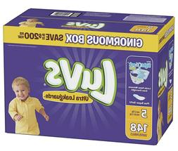 Luvs Ultra Leakguards Disposable Diapers, Size 5, 148 Count,