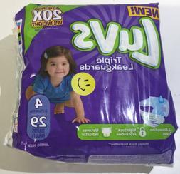 Luvs Ultra Leakguards, Jumbo Diapers Pack, Size 4, 22-37 Ib,