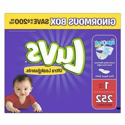 Luvs Ultra Leakguards Newborn Diapers, Size 1, 252 Count