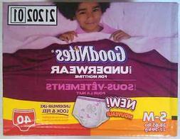 GoodNites Girls Underwear S/M 38-65lbs 40 count