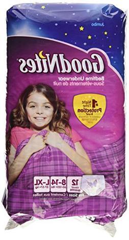 GoodNites Underwear, Girls, L-XL , Jumbo, 12 ct.