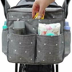 Universal Baby Stroller Organizer - Fits All Baby Strollers.