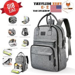 UPGRADED VERSION Diaper Bag Backpack Multifunction Mom Large