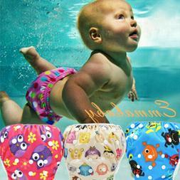 US Baby Swimming Nappy Kids Reusable Swim Diaper Girls Costu