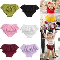 US Newborn Kid Baby Girl Panties Shorts Pants Ruffle Bloomer