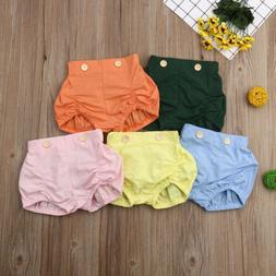 Toddler Infant Baby Girl Boy Cotton Shorts Pants Nappy Diape