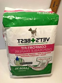 Vet's Best Comfort-Fit Disposable Diapers for Female Dogs
