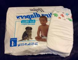Vintage Hughes Brand Plastic Ultra Diaper for Him Sz 4 Large