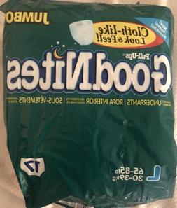 Vintage Large Goodnites 1998 Sample Of 2 Diapers