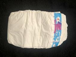Vintage Plastic Luvs Diaper Size 4 Barney!!