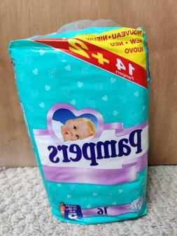 Vintage Plastic Pampers Disposable Diapers - EURO - Size 5 -