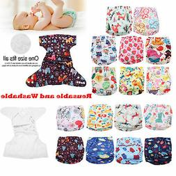 Washable Baby Pocket Nappy Cloth Cover Adjustable Reusable I