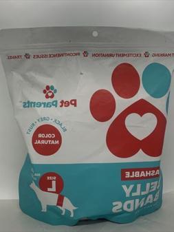PET PARENTS Washable L Dog Belly Bands 3 Pack Color Natural