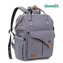 Water Resistant Multi-pocket Baby Travel Diaper Backpack Wit
