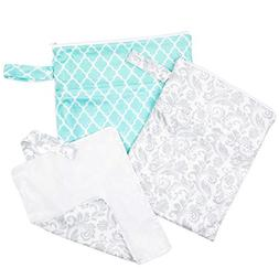 Waterproof Baby Diaper Bag Set: Reusable Wet Dry Laundry Bag