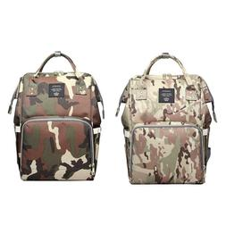 Waterproof Mummy Diaper Bags Camo Print Backpack Large Capac