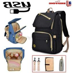 Waterproof Mummy Nursing Backpack Maternity Nappy Baby Diape
