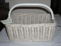 Pottery Barn Kids WEATHERED WHITE SABRINA DIAPER CADDY NURSE