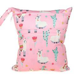 Wet Bag Baby Cloth Diaper Nappy Bag Double Zippers Pocket Al